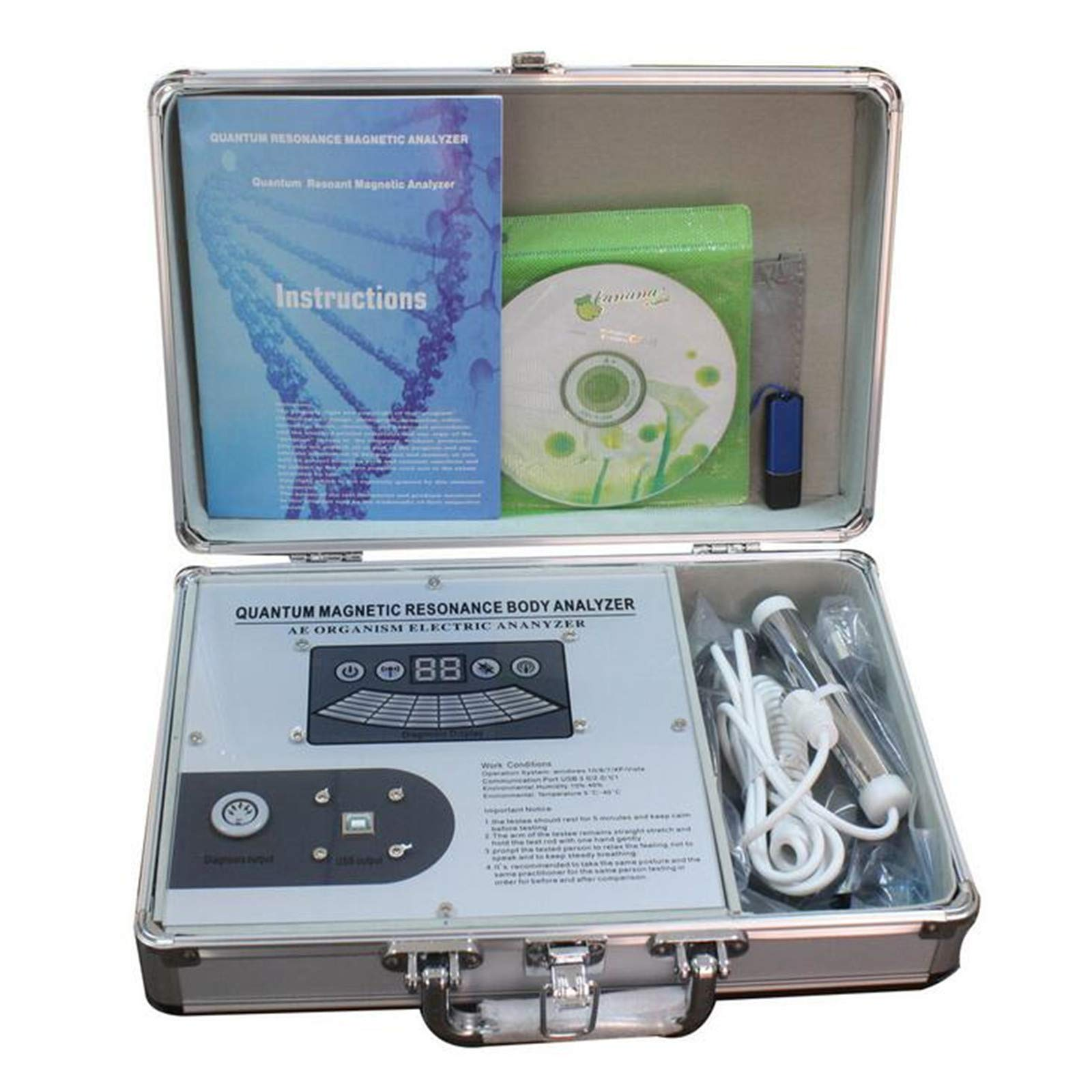 JIAHAO Quantum Resonance Magnetic Analyzer Medium Silver Model Quantum Magnetic Analysis Machine Upgrade Version Quantum Analyzer
