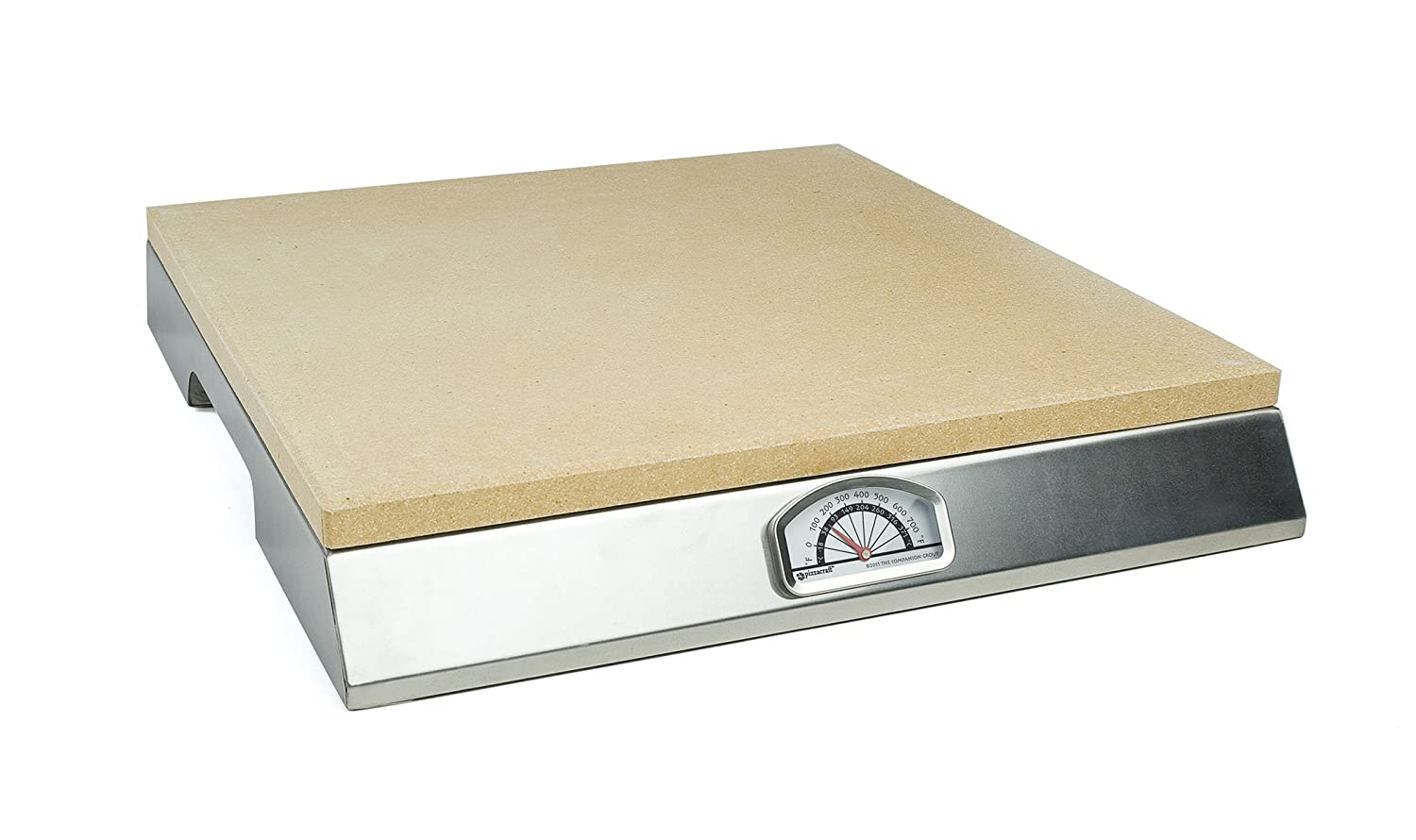 Pizzacraft Pizza Stone with Built-In Thermometer Base - PC0106
