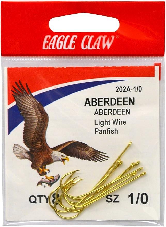 3 Packs 10//pk Eagle Claw Bronze Aberdeen Light Wire Panfish Hooks Size 4