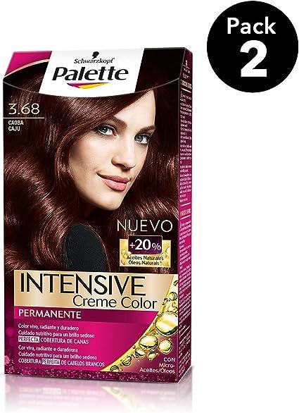 Palette Intense - Tono 3.68 Caoba - 2 uds - Coloración Permanente - Schwarzkopf