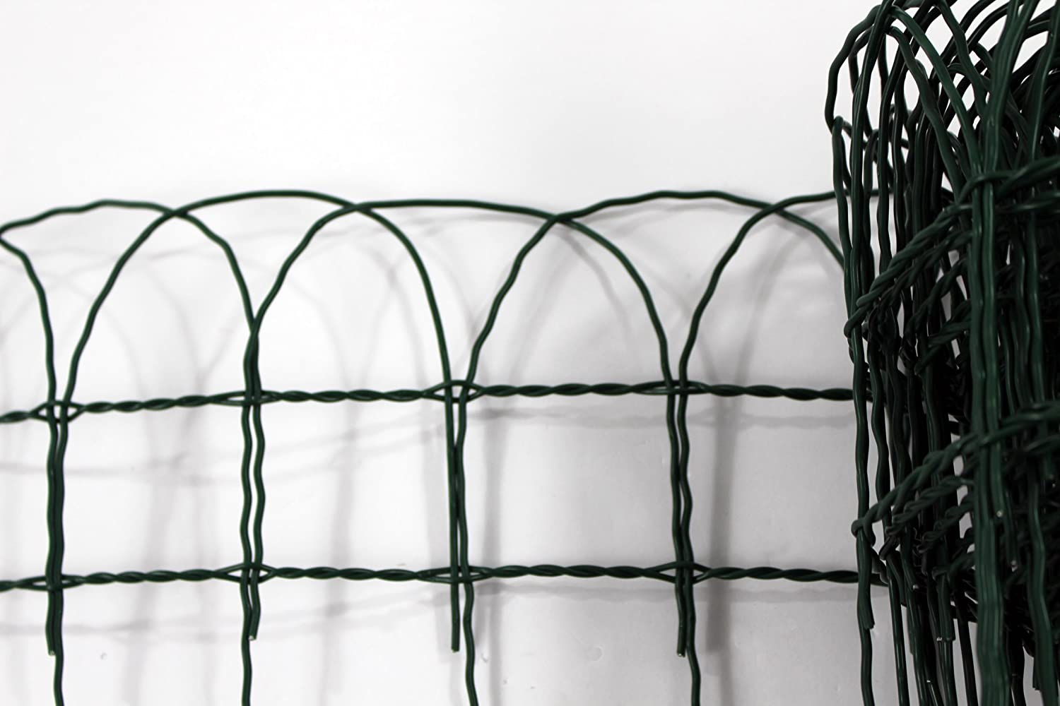 Garden Border Lawn Edging 10m x 400mm or 650mm PVC Coated Green Wire ...