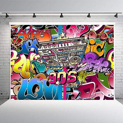 Amazon Com 90 S Theme Hip Hop Party Decorations Graffiti Backdrop