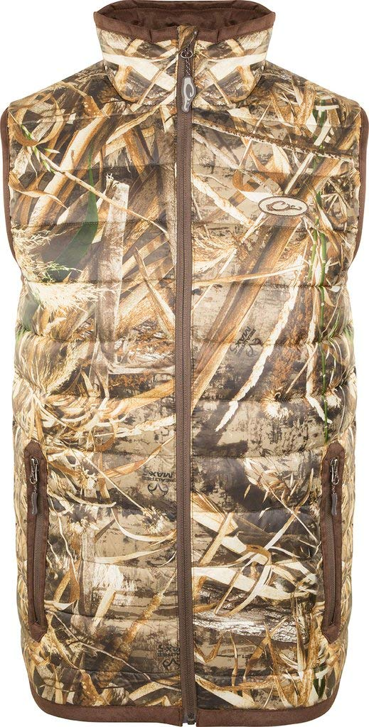Drake Men's Camo Double Down Endurance Layering Vest Polyester Realtree Max-5. by Drake