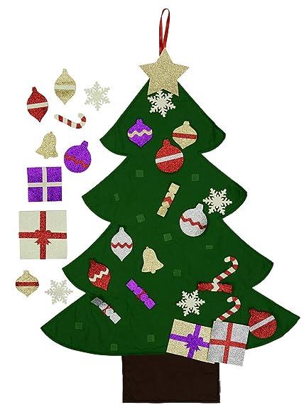 Amazoncom Felt Christmas Tree for Kids Glitter Edition 3Ft