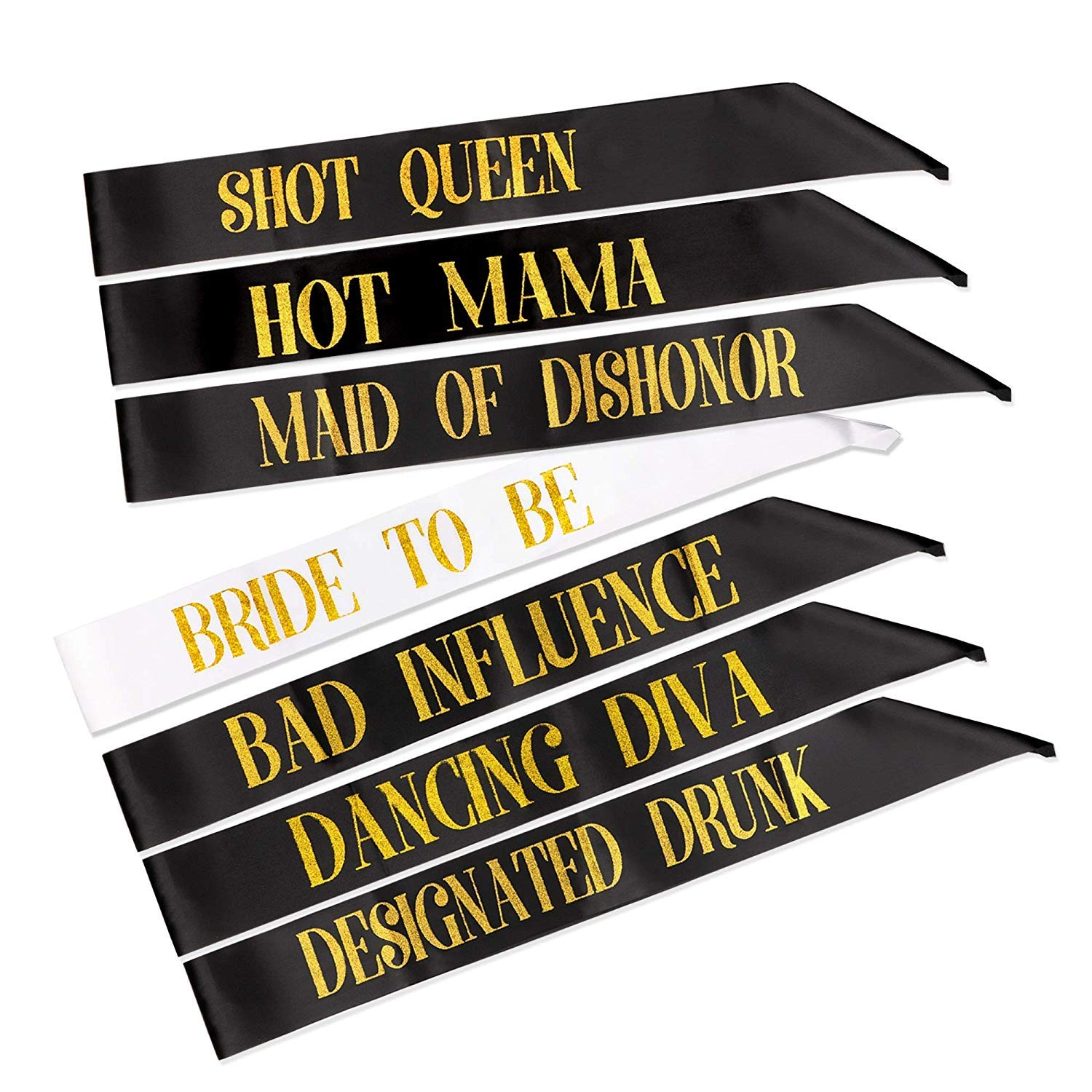 Gift Box Goodies Naughty Rude Novelty Hen Party Sashes Pack of 7