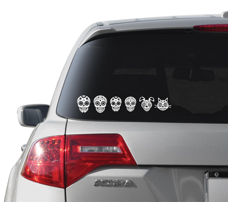 WMI Designs 10064 Dia De Los Muertos Family Stickers