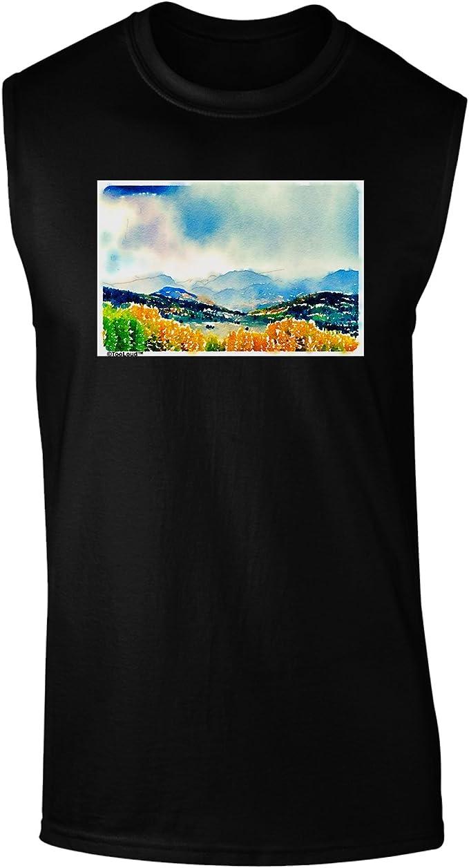 TooLoud Colorado Mountain Scenery Muscle Shirt