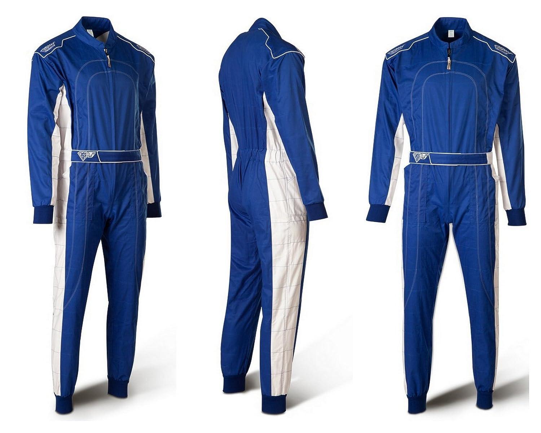 SPEED Kartoverall HS-2 2018 Racewear Combinaison Bleu/Blanc