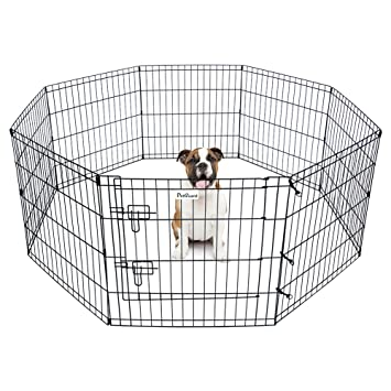 High Quality Pet Dog Playpen Foldable Exercise Pen Metal Yard Fence/Portable For Travel  Camping 8 Panel