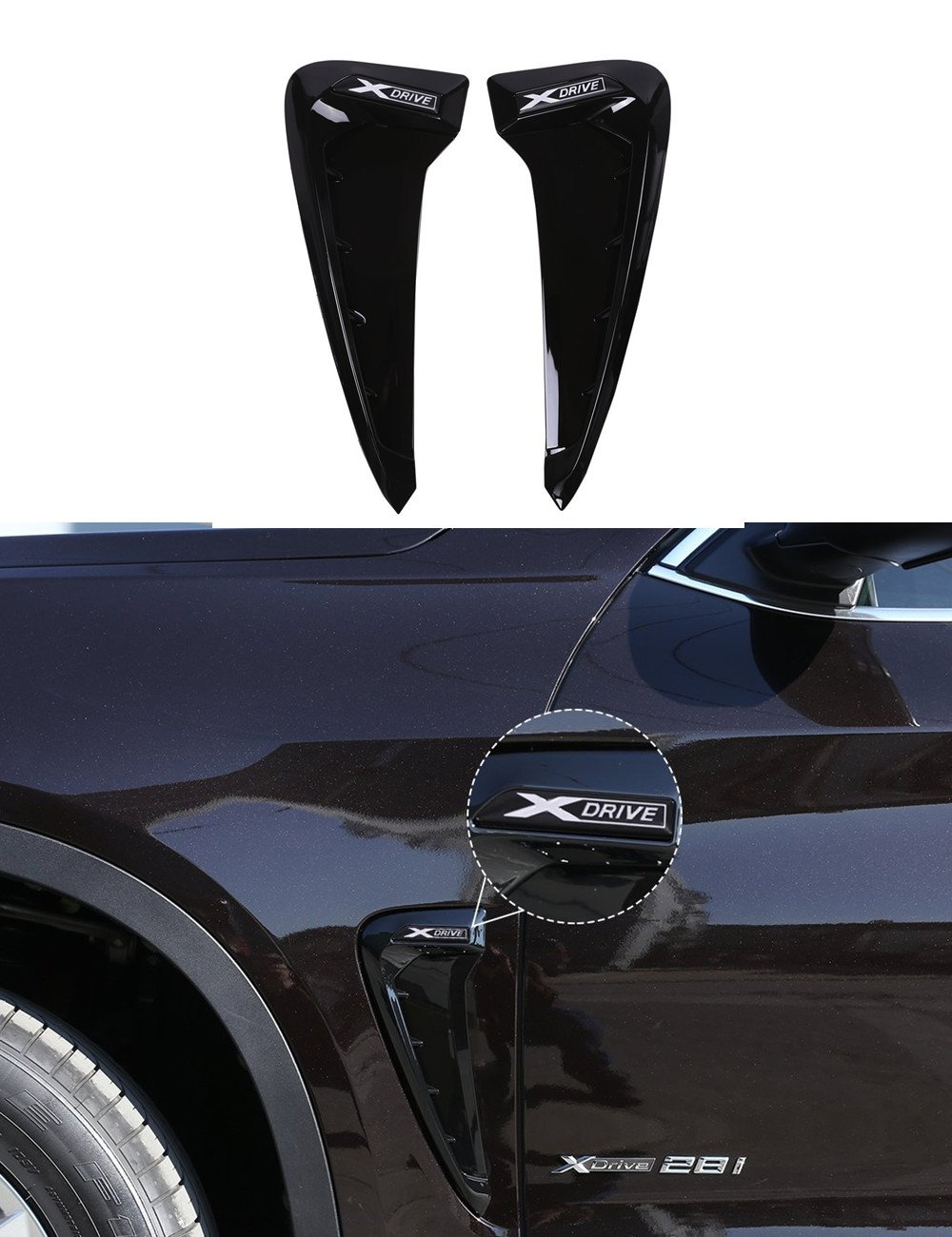 Auto Side Air Flow Fender cover Trim sticker decorazione auto accessori car-styling Agodor