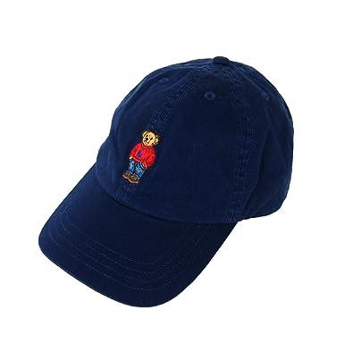 Polo by Ralph Lauren POLO BEAR Baseball Cap US ポロベアー刺繍ハット ラルフローレン ポロ ワンポイント キャップ (BLACK)