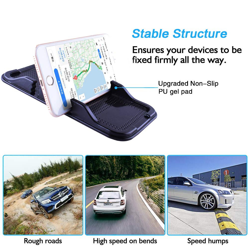 Keys ZC GEL Cell Phone Holder for Car Coins and More Removable and Reusable Phone Holder with Heat Resistant and Damage Free Car Dashboard Sticky Gel Pads for Sunglasses