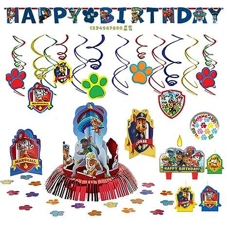 Amazon.com: Paw Patrol paquete: de cumpleaños fiesta ...