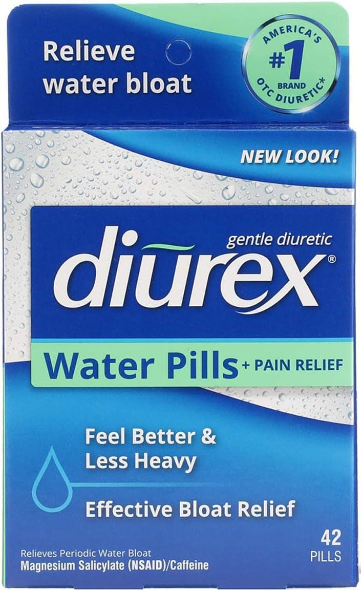 Diurex Water Pills + Pain Relief - Relieve Water Bloat, Cramps, & Fatigue - 42 Count: Health & Personal Care