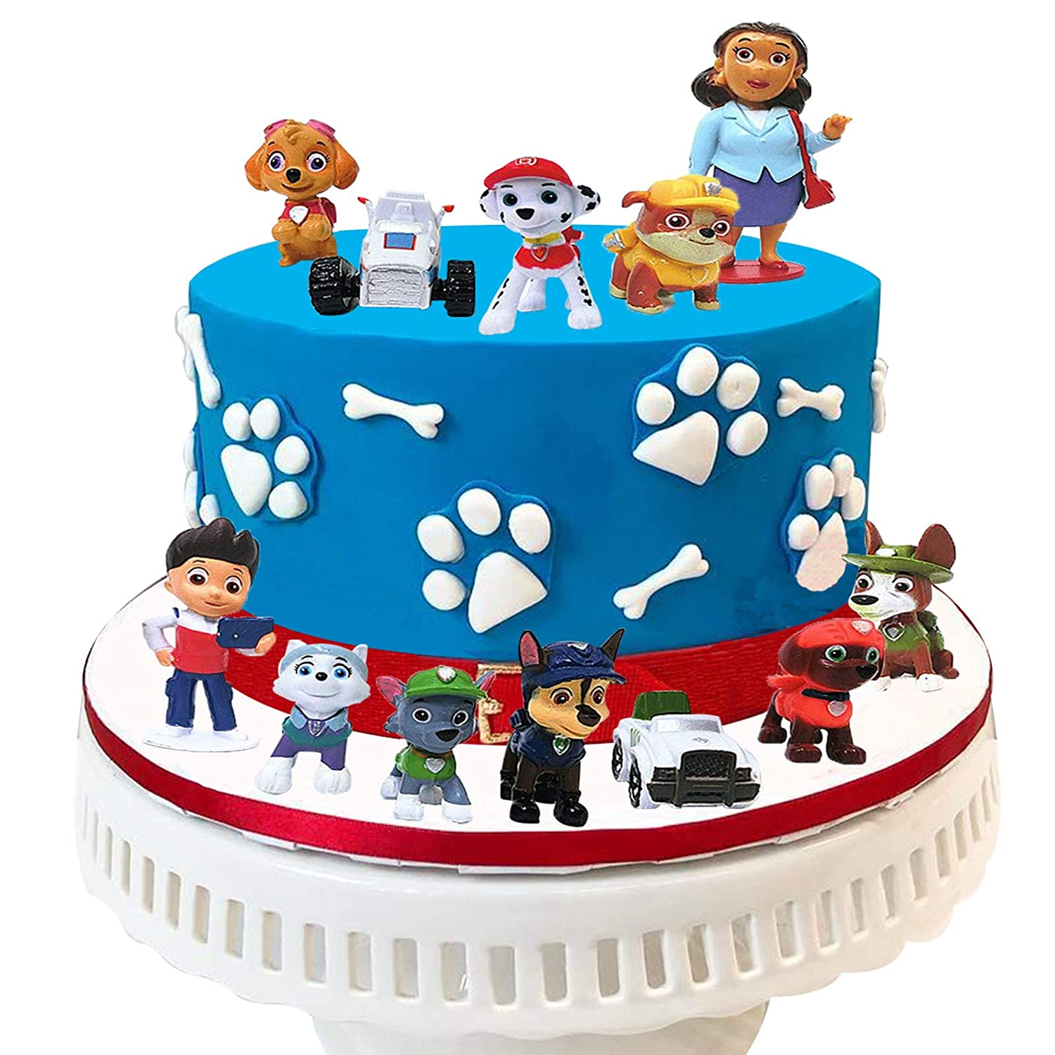Incredible 12Pcs Paw Patrol Cake Toppers For Baby Shower Birthday Party Cake Funny Birthday Cards Online Alyptdamsfinfo
