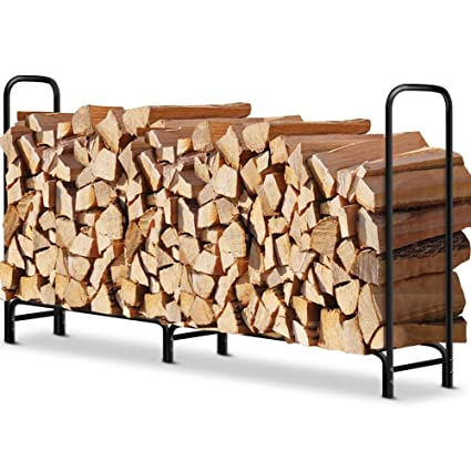 8 ft Outdoor Fire Wood Log Rack for Fireplace Heavy Duty Firewood Pile Storage Racks for  sc 1 st  Amazon.com & Amazon.com : 8 ft Outdoor Fire Wood Log Rack for Fireplace Heavy ...