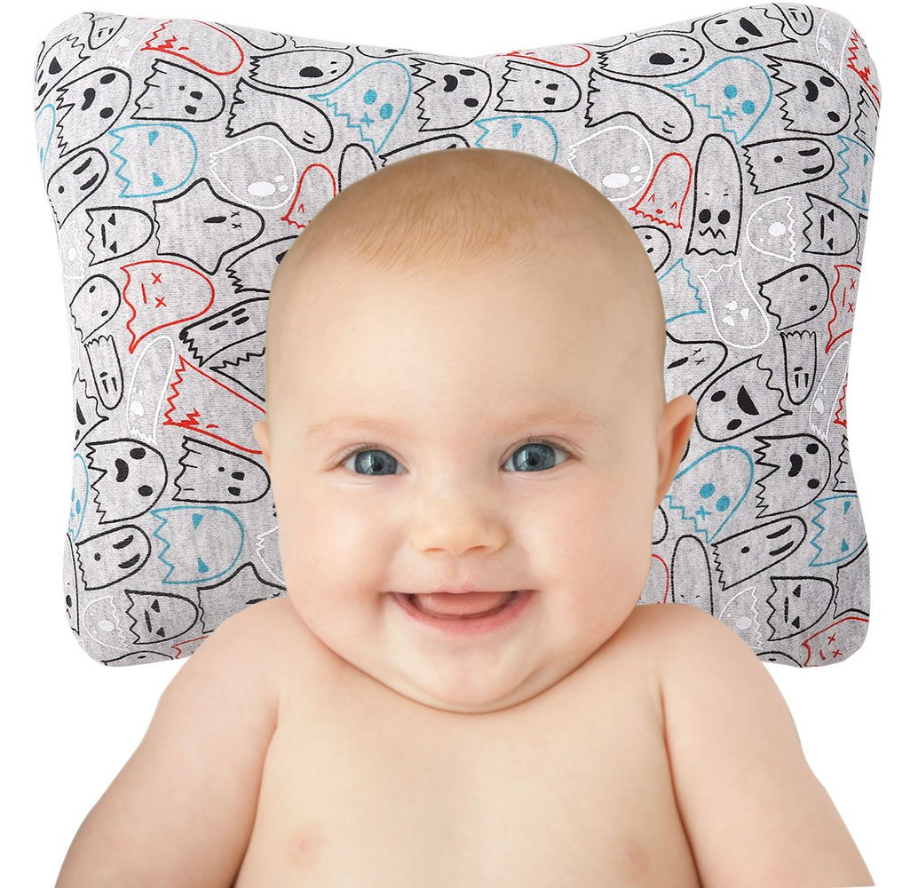 HONGLIN Baby Pillow Newborn Infant Protective Head Shaping Pillows 3D Positioner with Breathable & Reliable Materials, Prevent Flat Head and Plagiocephaly HL21-3