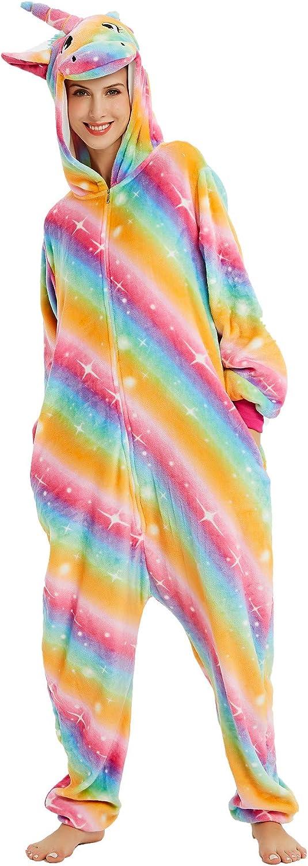Amazon.com: Pijama unicornio para disfraz de animal, unisex ...