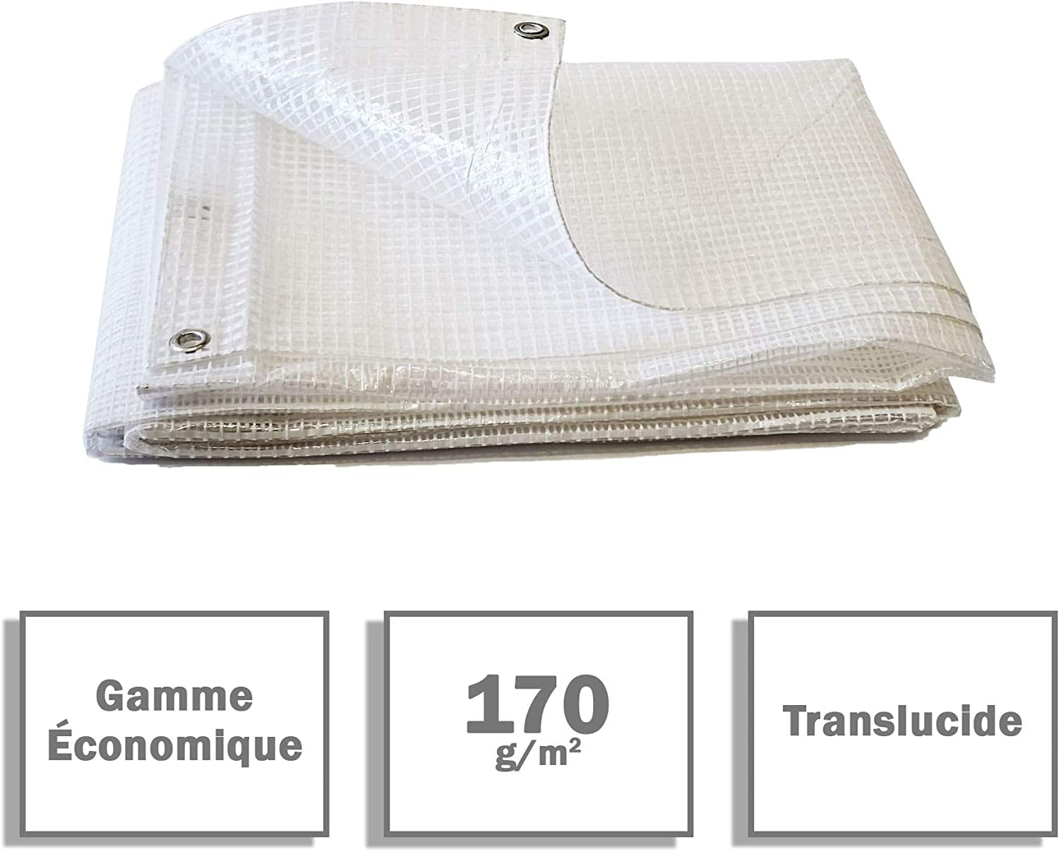 /lona transparente/ /4/x 3/m/ Lona madera 170/g//m/²/ /bache a madera /b/âches impermeables/