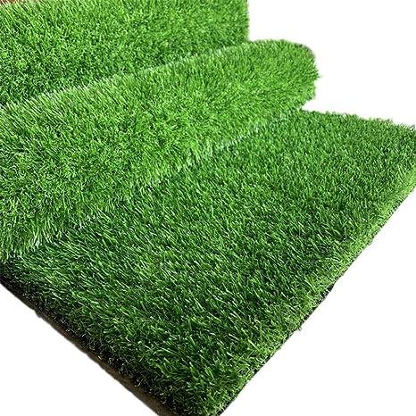 Campo de fútbol Artificial Grass, 10mm Altura de la Pila Natural y Realista Jardín de guardería Jardín de césped Falso para Casarse Golf Deportes Uso: Amazon.es: Deportes y aire libre