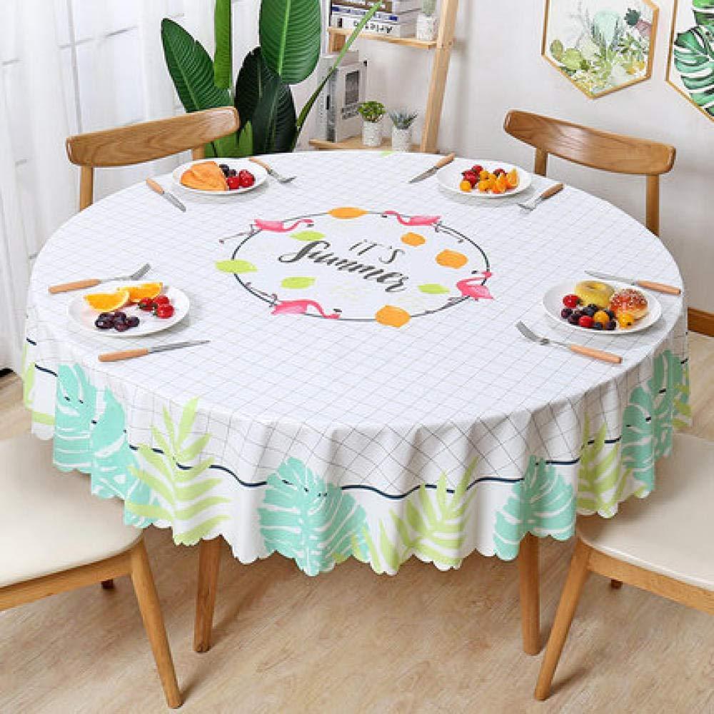 WJJYTX gartentischdecke eckig, runde wasserdichte Tischdecke Stoff Dekoration für Party Hochzeit runde Tischdecke @ 137