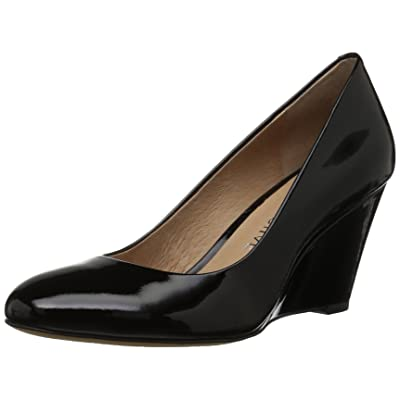 Brand - 206 Collective Women's Battelle Closed-Toe Covered Wedge Pump: Shoes