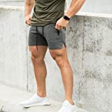 EVERWORTH Men's Solid Gym Workout Shorts