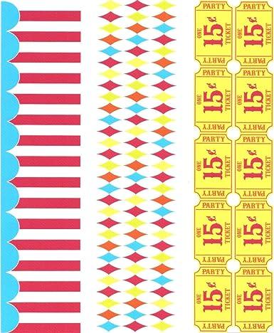 Carnaval temática juego Tickets Argyle patrón de tienda de ...
