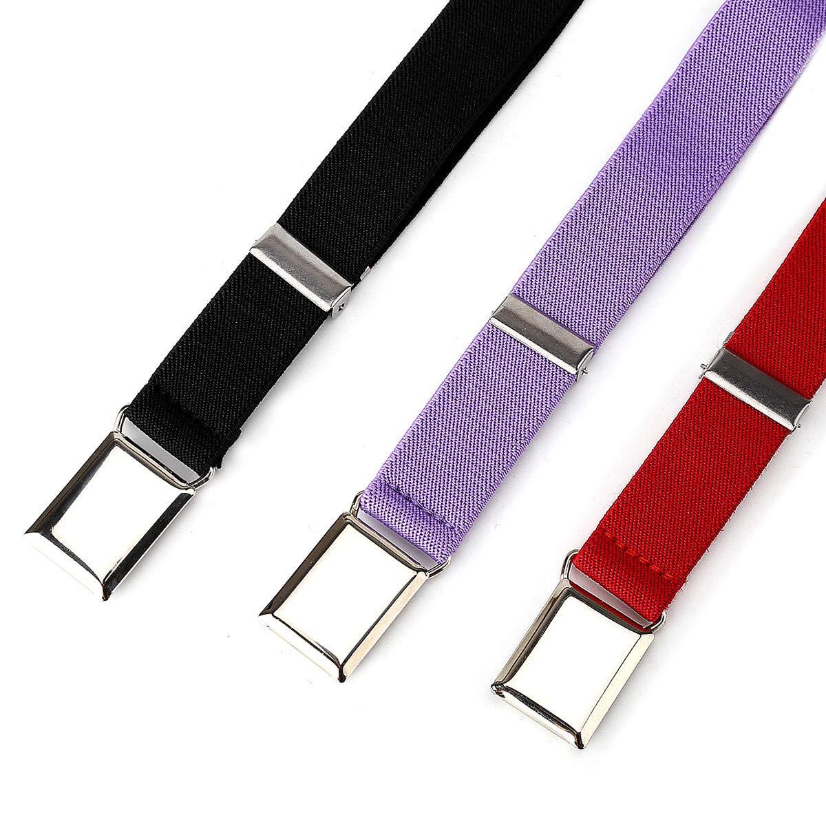 3pcs Adjustable Stretch Child Buckle Belt by Unfad Kids Boys Toddler Elastic Belts