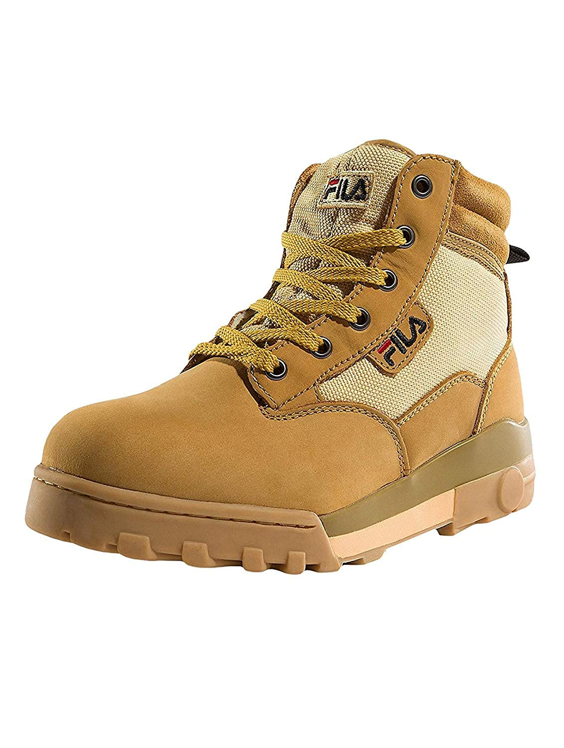 Light Brown Fila Men's Grunge Mid Hi-Top Trainers