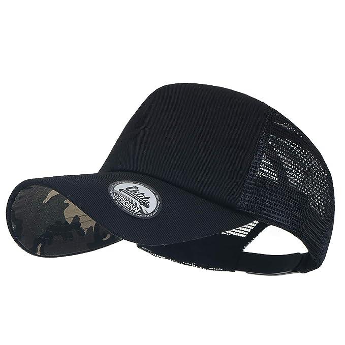 38d6b577 ililily Extra Big Size Adjustable Mesh Back Curved Baseball Cap Trucker Hat:  Amazon.co.uk: Clothing
