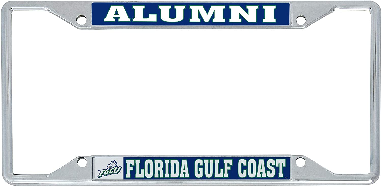Desert Cactus Florida Gulf Coast University FGCU Eagles NCAA Metal License Plate Frame for Front Back of Car Officially Licensed Alumni