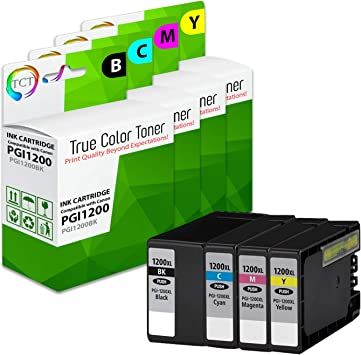 1BK 1C 1M 1Y Replacement for Canon MAXIFY MB2020 MB2320 4 Pack PGI-1200XL Compatible Ink Cartridge