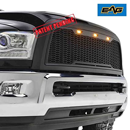 362b0ccd559d5 Amazon.com  EAG Replacement ABS Grille - Matte Black - With Amber LED  Lights for 13-17 Dodge Ram 2500 3500  Automotive