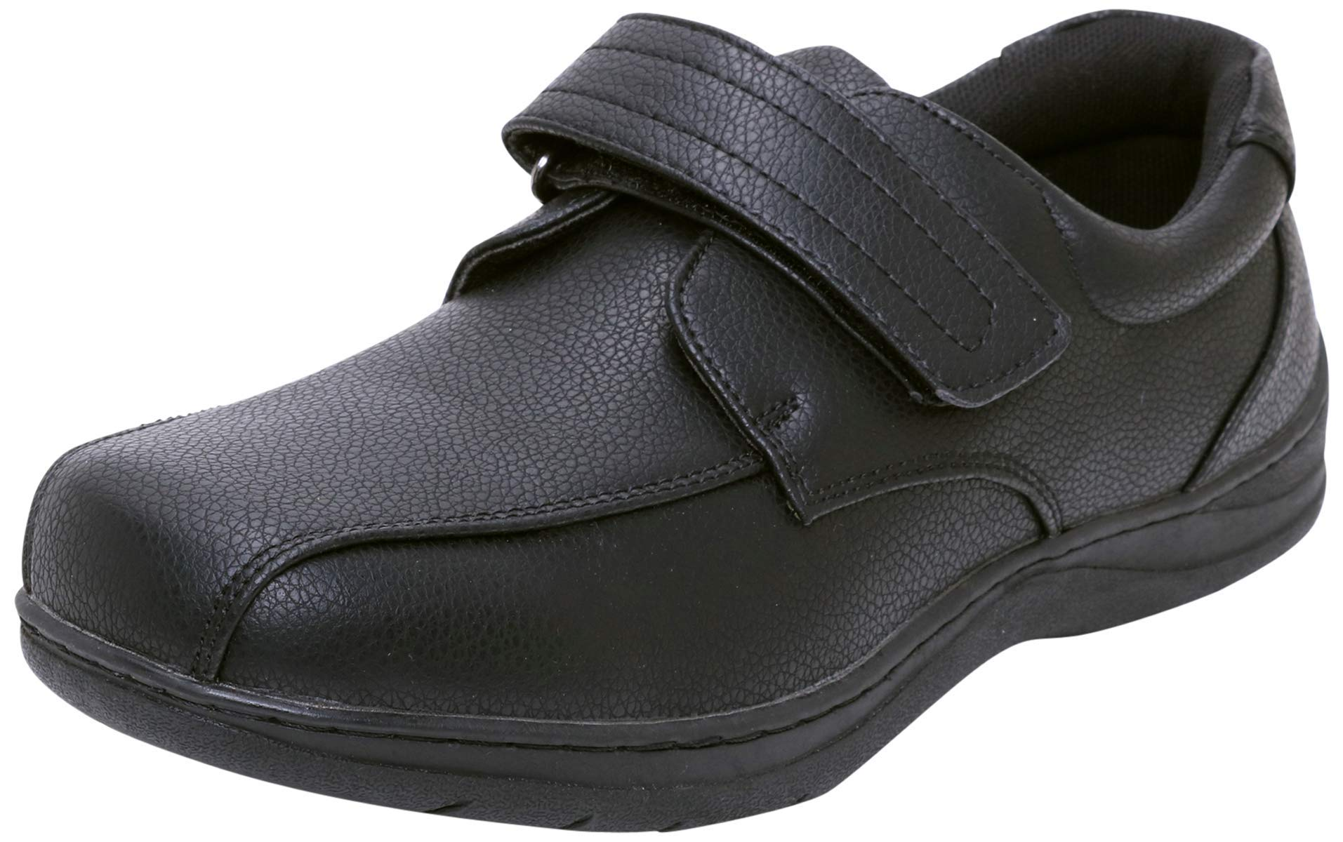 Easy Strider Boys' Everyday Memory Foam School Uniform Shoes (Toddler/Little Kid/Big Kid), Black Strap, Size 11 Little Kid'