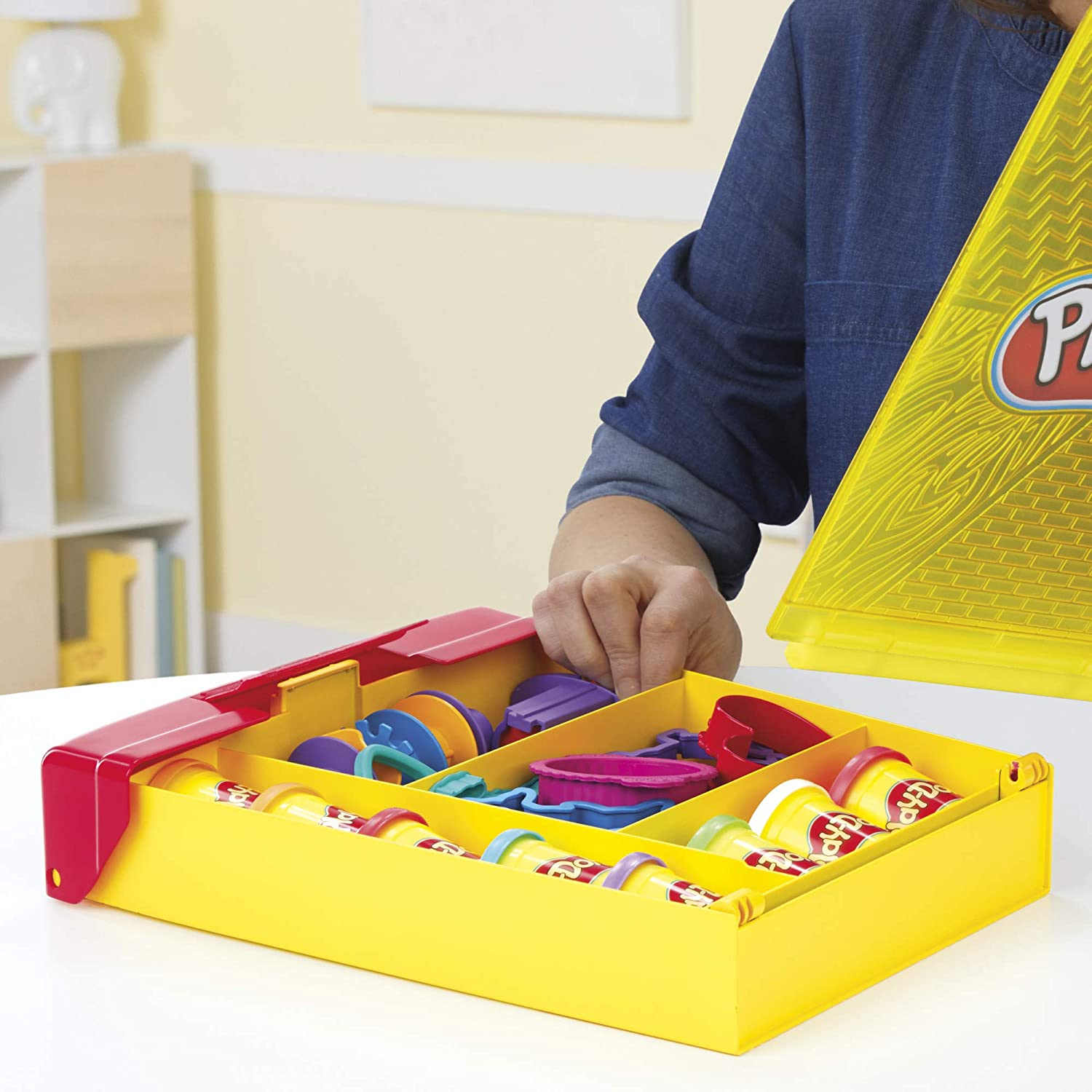 Play-Doh Large Tools and Storage Activity Set for Kids 3 Years and Up with 8 Non-Toxic Colors and 20-Plus Tools