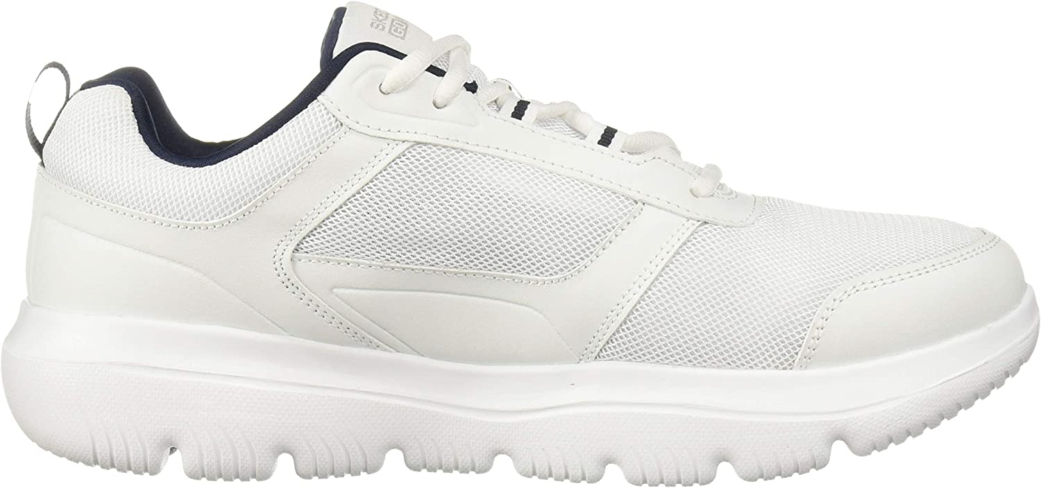 Skechers mens 54734EWW Go Walk Evolution Ultra-enhance White Navy