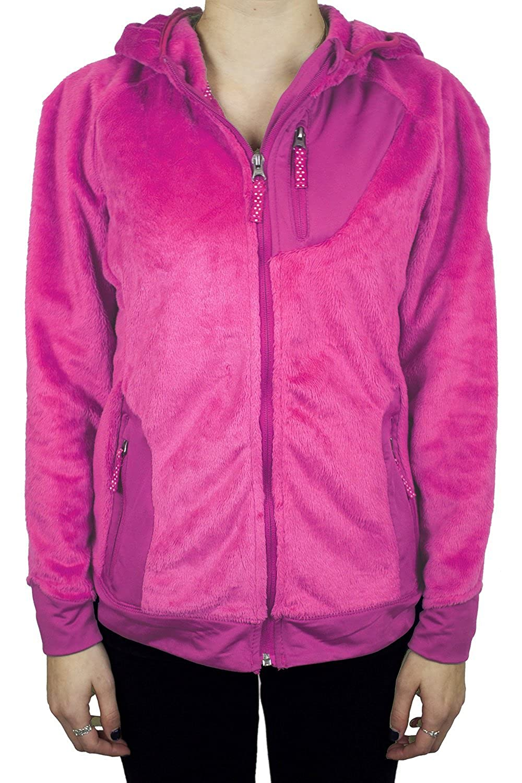 Small Snozu Little Girls Sherpa Hooded Jacket Pink