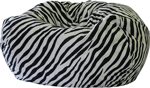 Gold Medal Bean Bags Safari Micro-Fiber Suede Animal Bean Bag, XX-Large, Zebra