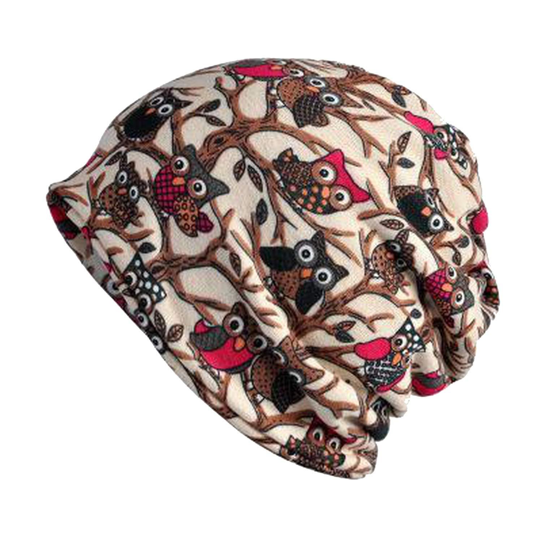 liuyunfeiyu Turban Hat Female Winter Hats for Women Men Skull Caps Beanies Pattern Bonnet Beanie Hat Bonnet Cap Bone Male