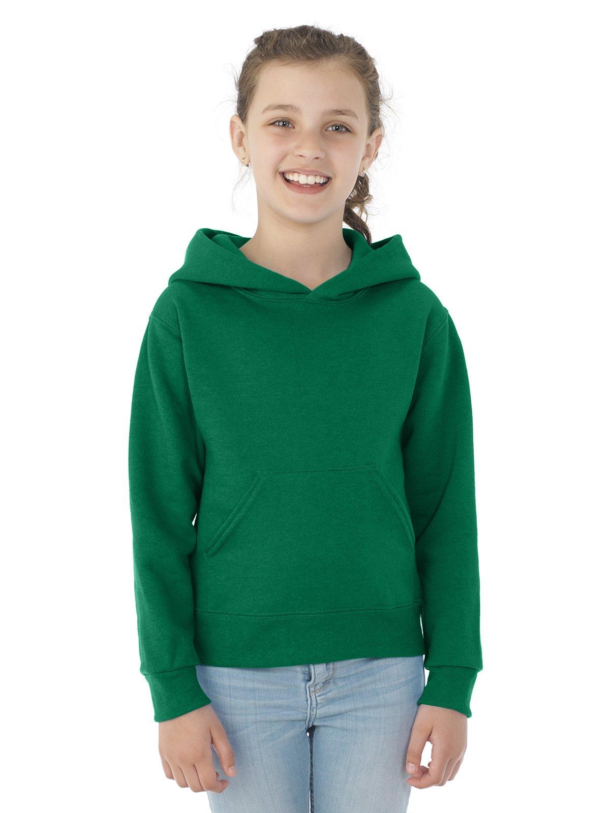 Jerzees 996Y Youth NuBlend Hooded Pullover Sweatshirt - Clover44; Medium