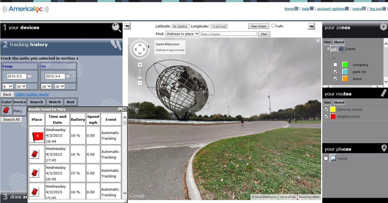AMERICALOC GL300W Mini Portable Real Time GPS Tracker XW Series