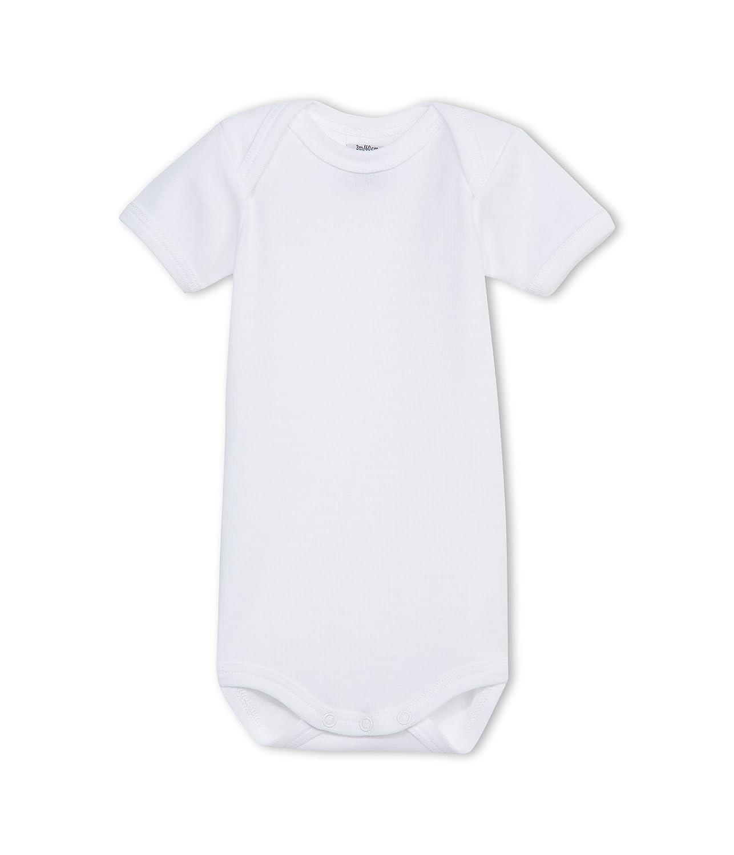 Petit Bateau Unisex-Baby 15036 Plain Short Sleeve Bodysuit