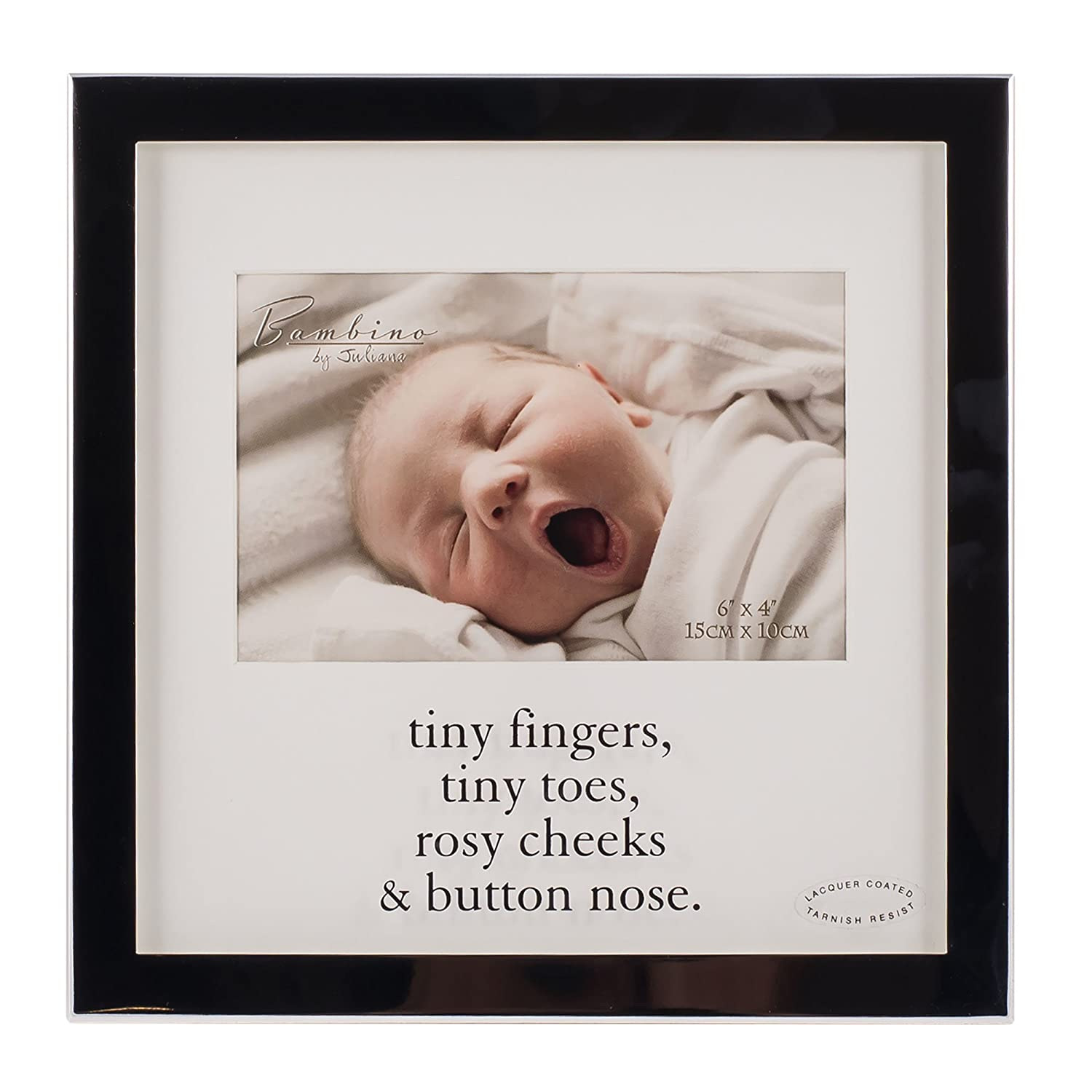 Amazon Com Tiny Fingers Tiny Toes Rosy Cheeks Button Nose 4x6 Baby Frame Baby