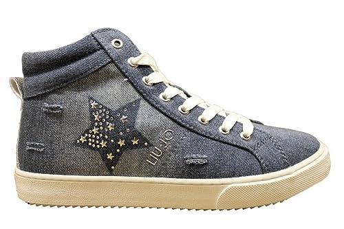 d8b4d55acb957 LIU-JO GIRL L3A4 00079 Jeans Polacchine Donna Bambina Calzature Casual   Amazon.it  Scarpe e borse