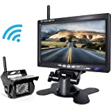 Backup Camera Wireless and Monitor Kit For Truck/Semi-Trailer/Box Truck/RV to Avoid Blind Area When Do Reversing Parking Backing eRapta ERW01 Not Accept Second Camera EWC-01 Prime