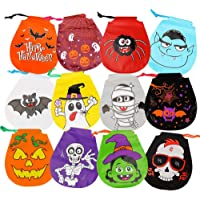CCINEE Halloween Drawstring Goody Bags Gift Candy Bags for Halloween Party Supplies-12Pieces