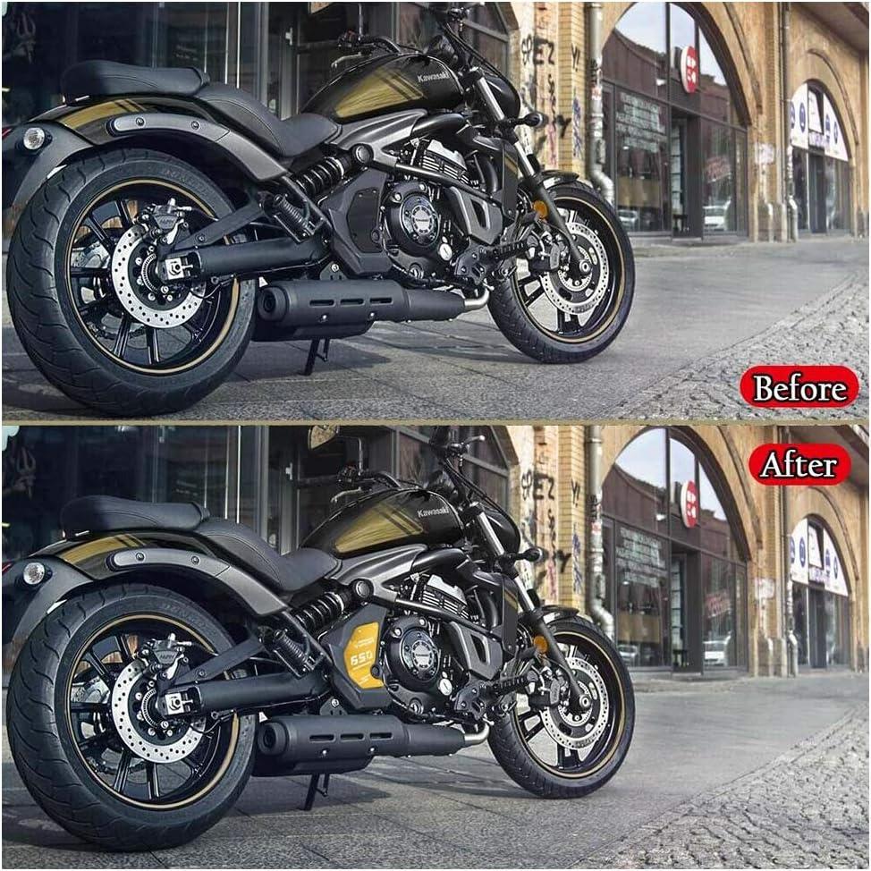 Or FATExpress Moto CNC En Aluminium C/ôt/é Droit Moteur Garde Couverture Protecteur Crash Cadre Curseur pour 2015 2016 2017 2018 2019 2020 Kawasaki Vulcan S VN650 VN 650 EN650 Accessoires