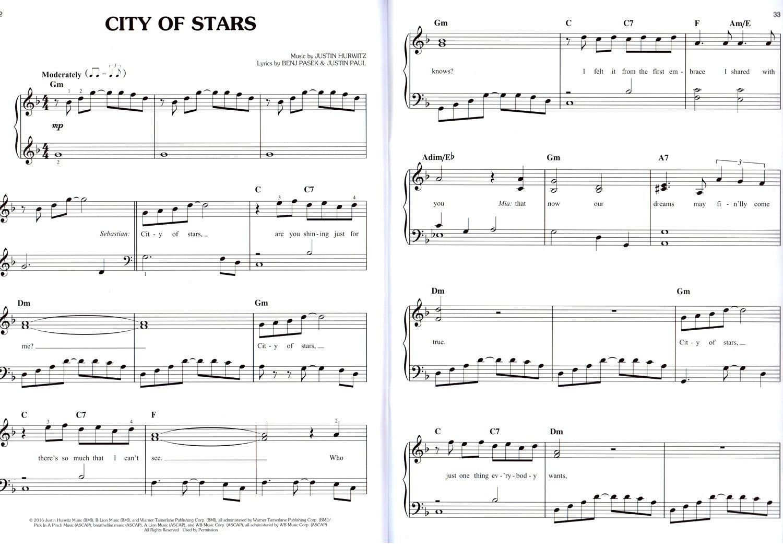 La La Land Soundtrack Songbook Noten Easy Piano Klavier leicht 9780571539833