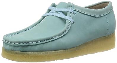 buy online 99807 a1d2c Clarks Wallabee, Mocassins femme - Bleu (Light Blue Nbk), 35.5